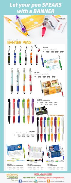 Pen-Banners. Let your pen talks!!!!