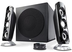 Cyber Acoustics Booming Speaker System with Subwoofer containing 6.5-inch Power Pro Series Driver (CA-3908)