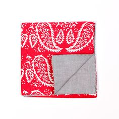 Chapman Pocket Square Red