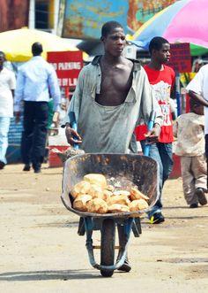 Coconut seller, Monrovia, Liberia