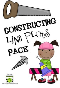 """This is a """"Construction"""" themed pack for """"constructing"""" line plots. Line Plots are new to grade. This pack contains 33 pages. Math Blocks, I Love Math, Teaching Math, Teaching Ideas, My Teacher, Teacher Stuff, Third Grade Math, Home Schooling, Elementary Math"""