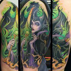 Maleficent tattoo: My favorite Disney villain. She is such a sassy evil bitch. Haha