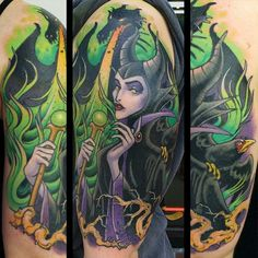 Maleficent tattoo: My favorite Disney villain. She is such a sassy evil bitch. Haha