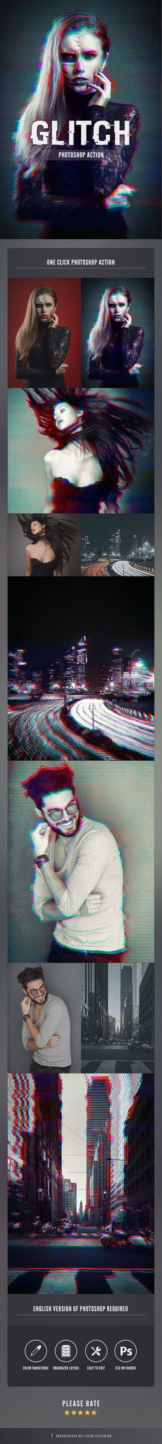 Transform your images into a dark corrupted scene with a distorted Glitch Effect  #glitch #glitch effect #glitch texture • Available here → http://graphicriver.net/item/glitch-photoshop-action/15800617?ref=pxcr