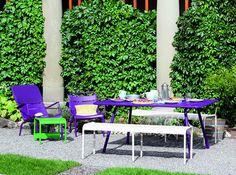 Meubles de jardin violet fermob