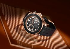 Omega Seamaster Diver Chronograph Sedna Gold – it features a Sedna gold case, with a laser-ablated black ceramic bezel. Omega Seamaster Diver 300m, Seamaster 300, Omega Seamaster Planet Ocean, Omega Speedmaster, Omega Co Axial, Golden Design, Golden Ring, Vintage Omega