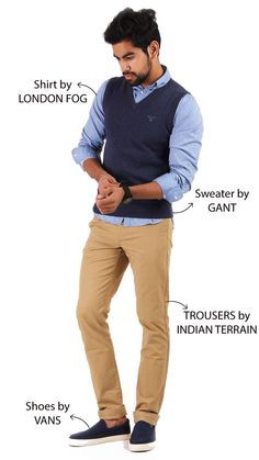 Impeccable outfit for impeccable people...Shop for it now at Kapsons.com ‪#‎OOTD‬ ‪#‎Kapsons‬ ‪#‎Gant‬ ‪#‎IndianTerrain‬ ‪#‎Vans‬ ‪#‎Menswear‬