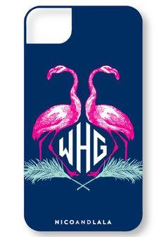 nico and lala, Flamingo iPhone Cover - $48