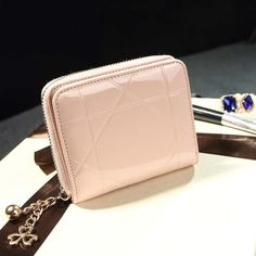 a6ab850f33 Patent Leather Womens Wallets Female Small Wallets Mini Zipper Wallet for  Women Short Coin Purse Holders Clutch Girl Money Bag