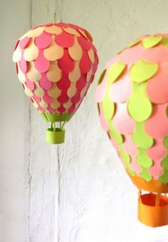 Cute bday party decorations. paper balloon