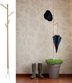 Recover Coatrack Uses Rainwater To Water Plants