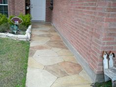 Stamped Concrete, Walkway, Patio, Outdoor Decor, Home Decor, Sidewalk, Homemade Home Decor, Runway, Yard