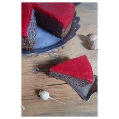 Makovo malinová torta