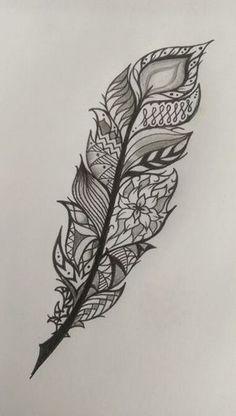 Feather tattoo idea mandala style