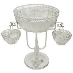 Sterling Silver Centerpiece, Antique George V | From a unique collection of antique and modern centerpieces at https://www.1stdibs.com/furniture/dining-entertaining/centerpieces/