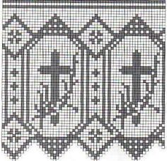 Filet crochet edging patterns for altar cloths robes nos for Pizzi uncinetto per tovaglie