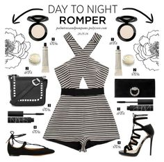 """Day to Night: Rompers"" by palmtreesandpompoms ❤ liked on Polyvore featuring Alice McCall, Topshop, Gucci, Grown Alchemist, Jimmy Choo, NARS Cosmetics, Chantecaille, Chloé, Vincent Longo and DayToNight"