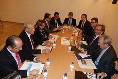 Reunión de la Plataforma Pro AVE liderada por el Alcalde de Castellón, Alfonso Bataller