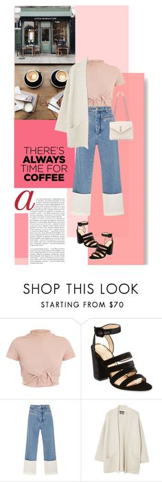 """Time for Coffee!"" by genovevajc ❤ liked on Polyvore featuring Paolo, Coffee Shop, Charlotte Olympia, Loewe, MANGO, Yves Saint Laurent and CoffeeDate"