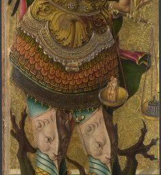 Carlo Crivelli - San Michele, dettaglio pannello Polittico minore di San Domenico (o Polittico di san Pietro martire) - 1476 - Londra, National Gallery