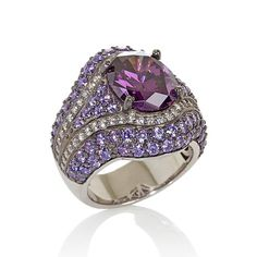 Jean Dousset 7.66ct Absolute™ Simulated Amethyst Ring