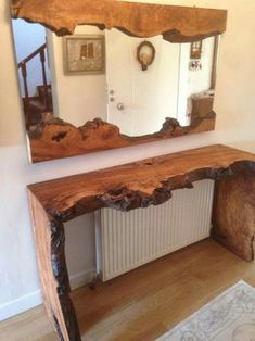 The post 35 Wonderful Live Edge Wood Decorating Ideas appeared first on Wood Diy. Live Edge Furniture, Rustic Furniture, Furniture Design, Furniture Ideas, Natural Wood Furniture, Antique Furniture, Modern Furniture, Outdoor Furniture, Mirror Furniture