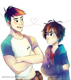 Tadashi and Hiro :)<<<<Tadashi has BAYMAX'S FACE ON HIS SHIRT!!!!! ADORBS!!!!