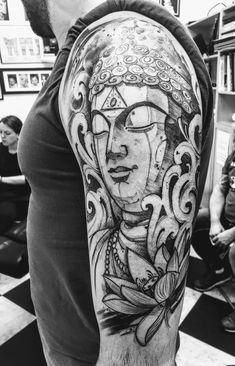 Buddha tattoo - Buddha tattoo You are in the right place about Buddha tattoo Tat. - Buddha tattoo – Buddha tattoo You are in the right place about Buddha tattoo Tattoo Design And St - Tattoos 3d, Hand Tattoos, Sleeve Tattoos, Tattoos For Guys, Cool Tattoos, Buddha Tattoo Design, Buddha Tattoos, Armor Tattoo, Nordic Tattoo