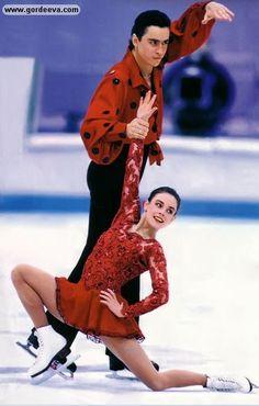 1994 Olympics, Short Program 'Flamenco', Katia Gordeeva & Sergei Grinkov