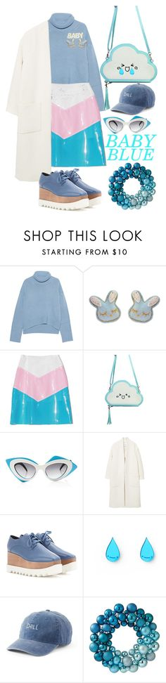 """""""Baby blue💙"""" by velvetpie ❤ liked on Polyvore featuring iHeart, Tarina Tarantino, Linda Farrow, MANGO, STELLA McCARTNEY, SO and Home Decorators Collection"""