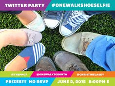 We know you love your shoes. So you need to join us at the #OneWalkShoeSelfie Twitter Party benefiting @thePMCF June 2, 2015 at 8:00pm E