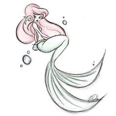 Mermaid Margo — parochena: And another… Cute Mermaid, Mermaid Art, The Little Mermaid, Mermaid Sketch, Mermaid Drawings, Disney Princess Art, Disney Fan Art, Disney Disney, Cute Disney Drawings