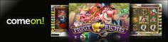 Play the popular Piggy Riches slot at ComeOn Casino & get  up to £100 free: http://www.casinomanual.co.uk/play-netents-piggy-riches-slot-comeon-casino/