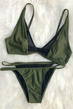 Cupshe Step by Step Mesh Splicing Bikini Set