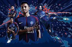 Paris Saint-Germain Nike Home Kit Football Ads, Football Design, Sport Football, Football Jerseys, Wallpapers Paris, Football Transfers, World Soccer Shop, Football Fashion, Sports Graphics