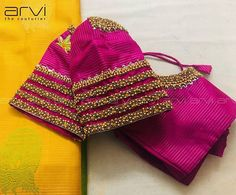 Custom-Tailored Bridal Blouse by the couturier Hand Work Blouse Design, Pattu Saree Blouse Designs, Simple Blouse Designs, Stylish Blouse Design, Fancy Blouse Designs, Bridal Blouse Designs, Blouse Neck Designs, Blouse Patterns, Sleeves Designs For Dresses
