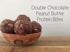 peace. love. & good food.: Double Chocolate Peanut Butter Protein Bites