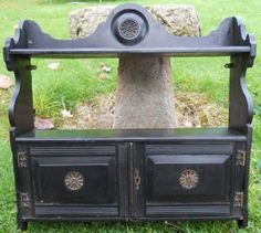 Victorian Ebonized Hanging Wall Cabinet Cabinets, Home Appliances, Victorian, Antiques, Wood, Closets, House Appliances, Antiquities, Woodwind Instrument