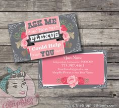 Plexus Business Card  Nanny Rose by TheGraphicsNanny on Etsy