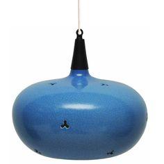1stdibs | Blue Pottery Hanging Light