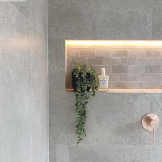 Shower Niche Trends : Modern shower niches, two tone shower niches and using accent tile in your shower niche will give your shower a great WOW factor. Ceramic Tile Bathrooms, Bathroom Niche, Concrete Bathroom, Shower Niche, Small Bathroom, Bathroom Photos, Bathroom Inspo, Washroom, Bathroom Ideas