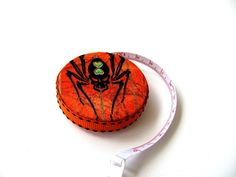 Measuring Tape Halloween Spider Retractable  by AllAboutTheButtons