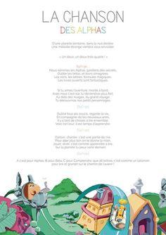 La Planète des Alphas Les paroles de la chanson des Alphas. Alphabet Alpha, Kindergarten Social Studies, French Resources, Writing Strategies, Educational Crafts, Phonemic Awareness, Teaching French, Letter Sounds, Career Education