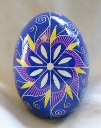 Ukrainian  Art form. Pysanka Easter egg.  Pysanka.
