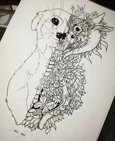 Inked 👽 #wip #meerkat #animal #trip #trippy #half #bnw #blackandwhite #ink #inked #skull #skeleton #ornamental #drawing #sketchbook #sketch #doodle #horns #disegno #dibujo #art #instaart #instadraw #traditionalart #freshdisegni