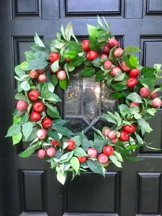 A personal favorite from my Etsy shop https://www.etsy.com/listing/545477423/fall-wreath-frontdoor-wreath-fall-apple