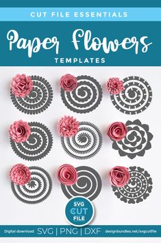 Rolled Paper Flowers, Paper Flowers Craft, Felt Flowers, Flower Crafts, Paper Crafts, Paper Flower Art, Zipper Flowers, Felt Roses, How To Make Paper Flowers