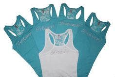 13 Bridesmaid Tank Top Shirt Bridal Party Lace by PrimAndProperB, $182.00 Bridesmaid Tank Tops, Best Friend Wedding, Tank Top Shirt, Bridal Shower, Athletic Tank Tops, Crop Tops, Trending Outfits, Lace, Shirts