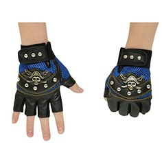 Minibee Men's Fingerless Stud Metal Skull+Chain Gloves Cycling Rock Gothic Punk Style gloves a pair (Blue) Minibee http://www.amazon.com/dp/B00W95GR6A/ref=cm_sw_r_pi_dp_4eTxvb16K4TM8