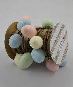 Look what I found on #zulily! Multicolor Eggs Wire Spool by KD Vintage #zulilyfinds